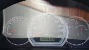 samochodowej konsoli deski rozdzielczej elektroniczna nawigacja Zdjęcia Royalty Free