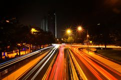 Samochodowi światła Obraz Royalty Free