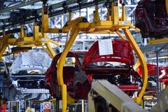 Samochodowi bodies na linii produkcyjnej Obraz Royalty Free