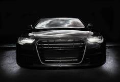 Samochodowi czarny potężni sporty Zdjęcia Royalty Free
