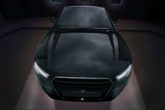 Samochodowi czarny potężni sporty Zdjęcia Stock