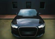 Samochodowi czarny potężni sporty Obrazy Stock