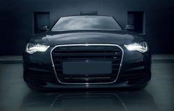 Samochodowi czarny potężni sporty Obraz Royalty Free