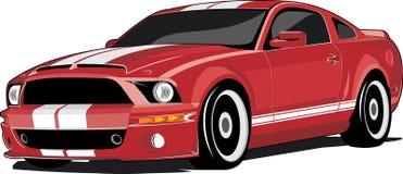samochodowi czerwoni sporty ilustracja wektor