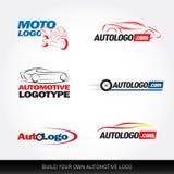 Samochodowi logotypy - samochód usługa i naprawa, set Samochodowy logo royalty ilustracja