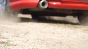 Samochodowi początki w piaska pyle zbiory