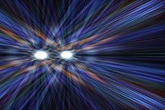 Samochodowi reflektory przy nocą Zdjęcie Royalty Free