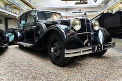 Samochodowi Tatrzańscy 80 od roku 1935 stojaków w Krajowym technicznym muzeum Obrazy Stock