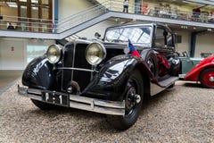 Samochodowi Tatrzańscy 80 od roku 1935 stojaków w Krajowym technicznym muzeum Zdjęcie Royalty Free