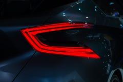 Samochodowi tylni czerwone światła szczegóły, zakończenie Obrazy Stock