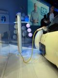 samochodowy ładować futurystyczny pojęcia elektryczny Fotografia Stock