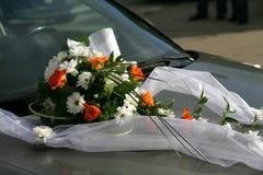samochodowy ślub Fotografia Royalty Free