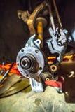 Samochodowy axle i zawieszenie z kołem usuwającym zdjęcie royalty free