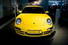 samochodowy carrera parsche sporta kolor żółty Zdjęcie Royalty Free