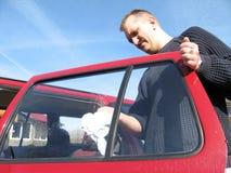 samochodowy cleaning Fotografia Royalty Free