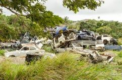 Samochodowy cmentarz obraz royalty free