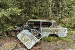 Samochodowy cmentarz w Smaland Fotografia Royalty Free