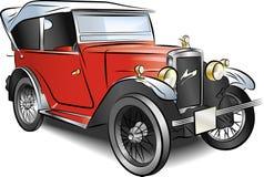 samochodowy czerwony retro wektor Fotografia Royalty Free