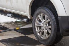 samochodowy czystości zakończenia pojęcie w górę domycia obraz royalty free