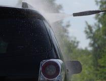 samochodowy czystości zakończenia pojęcie w górę domycia Zdjęcia Royalty Free