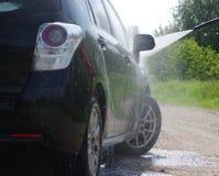 samochodowy czystości zakończenia pojęcie w górę domycia Obrazy Royalty Free