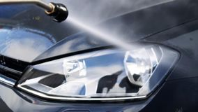 samochodowy czysty wąż elastyczny maszyny gąbki obmycie zbiory wideo