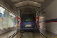 samochodowy czysty wąż elastyczny maszyny gąbki obmycie Zdjęcie Royalty Free