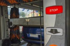 samochodowy czysty wąż elastyczny maszyny gąbki obmycie Fotografia Royalty Free