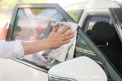 samochodowy czysty wąż elastyczny maszyny gąbki obmycie Zdjęcia Stock