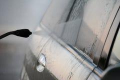 samochodowy czysty wąż elastyczny maszyny gąbki obmycie zdjęcie stock