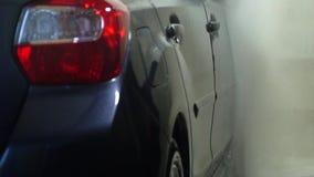 samochodowy czysty wąż elastyczny maszyny gąbki obmycie Samochodowa płuczka myje samochód Samochodowego obmycia pracownik myje sa zbiory
