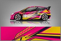 Samochodowy decal opakunku projekta wektor zdjęcie royalty free