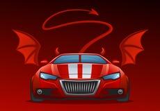 samochodowy diabeł ilustracji