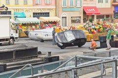 samochodowy Disney Paris studiów wyczyn kaskaderski zdjęcia royalty free