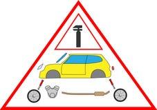 samochodowy dylemat ilustracja wektor