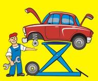 samochodowy dylemat royalty ilustracja