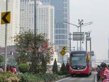 samochodowy dzień uwalnia Jakarta Fotografia Stock