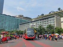 samochodowy dzień uwalnia Jakarta Obraz Royalty Free