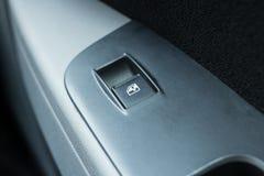Samochodowy elektryczny Windows guzik fotografia royalty free