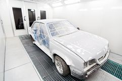 Samochodowy farby garażu pudełko Zdjęcie Royalty Free