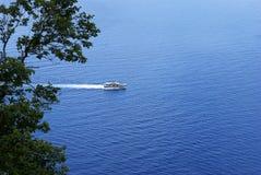 Samochodowy ferryboat w Grecja Obrazy Royalty Free