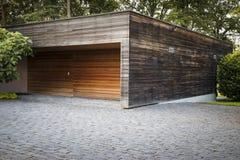 Samochodowy garaż na wsi Switzerland Obrazy Royalty Free