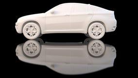 samochodowy gliniany biel Obraz Royalty Free