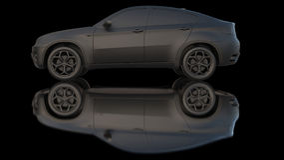 samochodowy gliniany zmrok Obraz Royalty Free