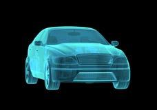 Samochodowy hologram Wireframe Obrazy Stock