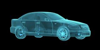 Samochodowy hologram Wireframe Zdjęcia Stock