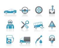 samochodowy ikon usługa transport ilustracji