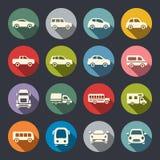 Samochodowy ikona set Zdjęcia Royalty Free