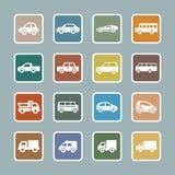 Samochodowy ikona set Zdjęcia Stock