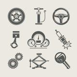 samochodowy ikony część naprawy set Obrazy Stock